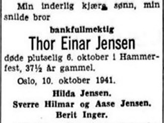 Thor Jensen obituary