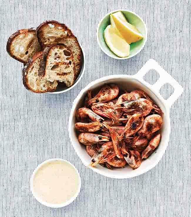 Katrín Björk - grilled shrimp
