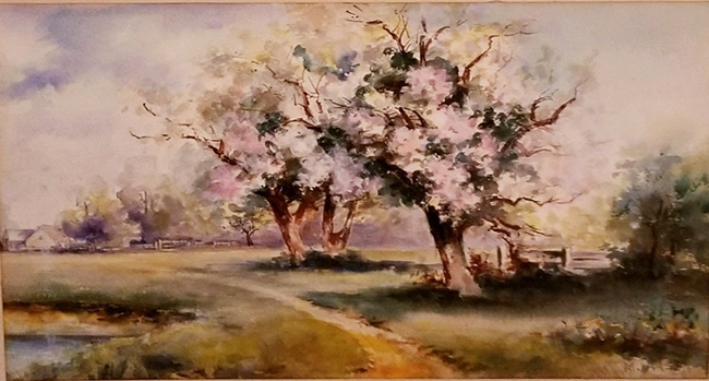 Mina Aasen painting