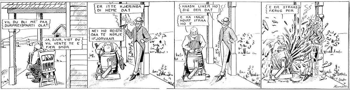Han Ola og han Per comic