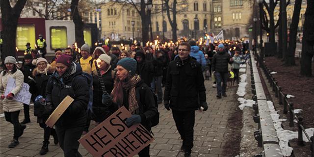 demonstrasjoner mot koronatiltak