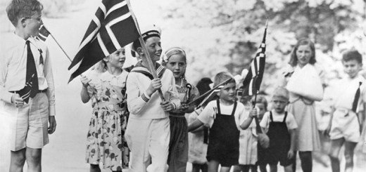 young Crown Prince Harald celebrates 17th of May in 1944 in Maryland