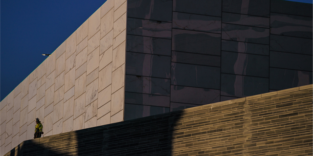 exterior of the new national museum in Oslo