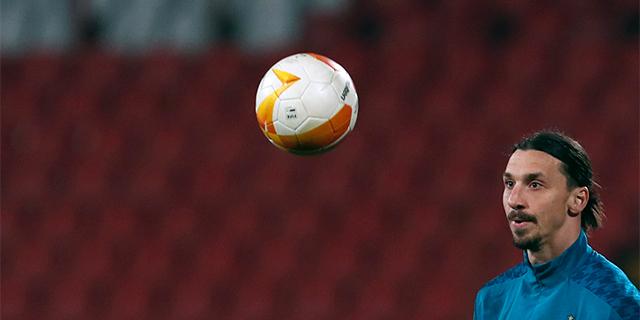 Zlatan Ibrahimović and a soccer ball