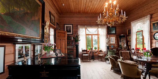 the interior of Troldhaugen