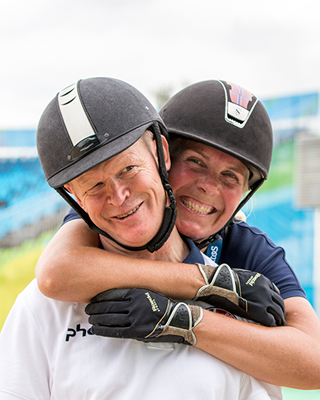 Paralympic equestrians Jens Lasse Dokkan and AnnCathrinLübbe