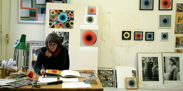 Sissel Blystad in her studio at the USF Verftet