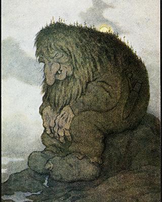 a sad troll