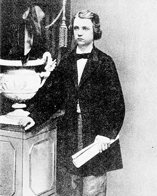 a young Edvard Grieg in Leipzig