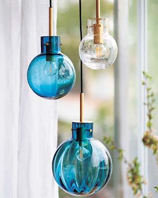 Glass fishing float lights