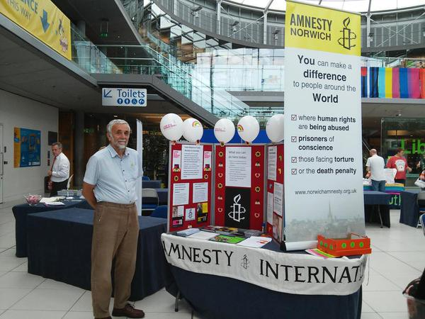 Norwich Amnesty at Norwich Pride 2015