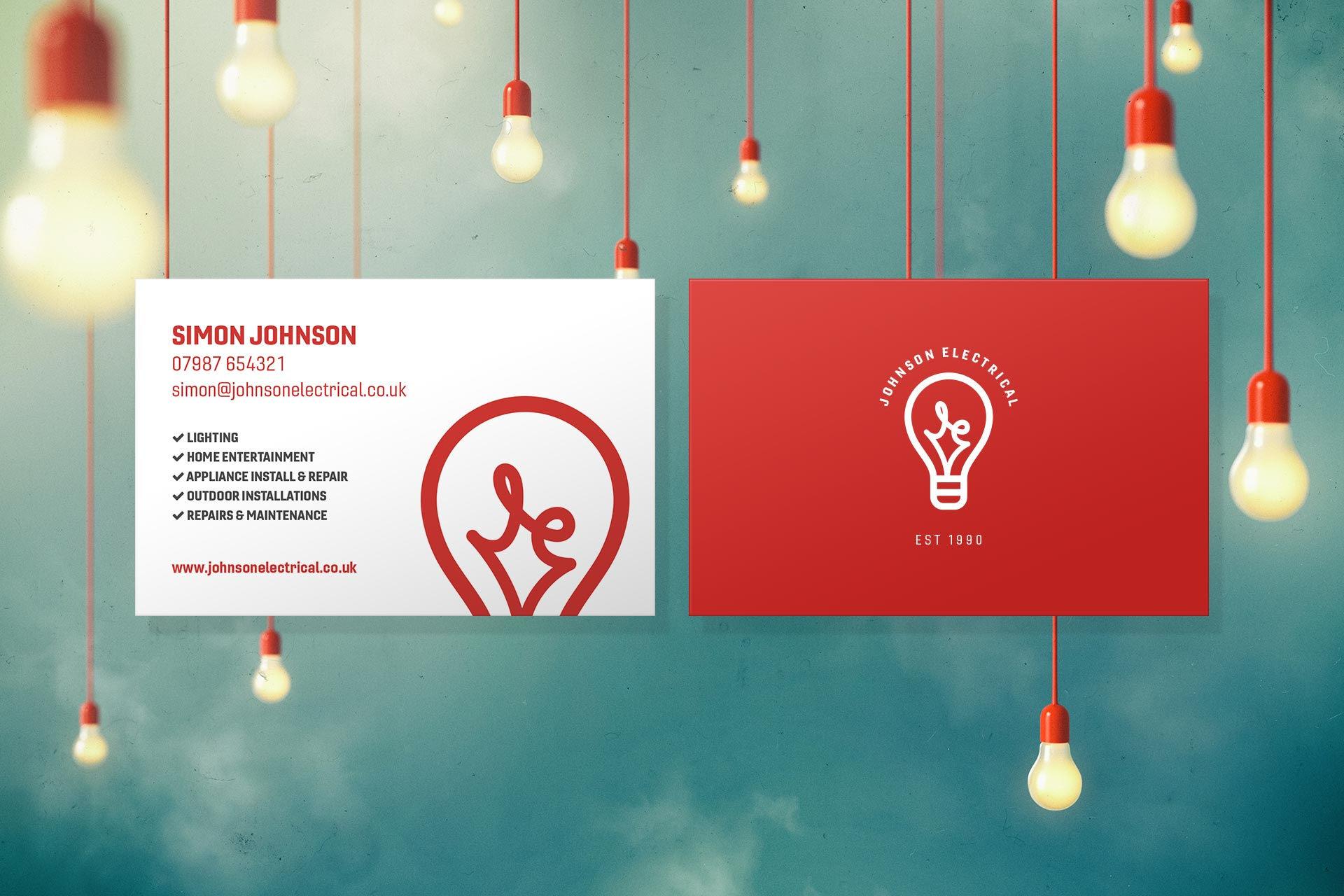 johnson electrical business cards