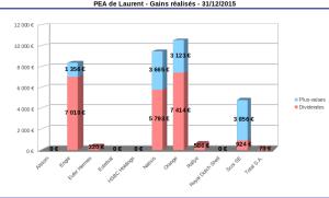 bilan PEA 2015 : gains réalisés