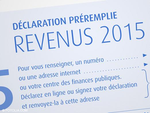 impôt 2016 déclaration préremplie