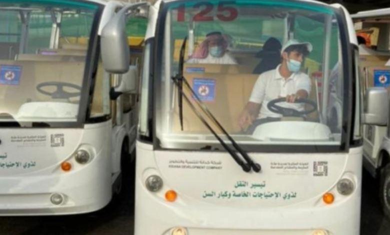 لذوي الاحتياجات الخاصة .. عربات كهربائية لنقل المصلين للمسجد الحرام