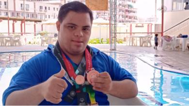 لاعب مصري من ذوي الهمم نافس الأصحاء ببطولة أبوظبي وحصد الميدالية البرونزية