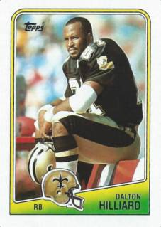Dalton Hilliard 1988 New Orleans Saints Topps Football Card