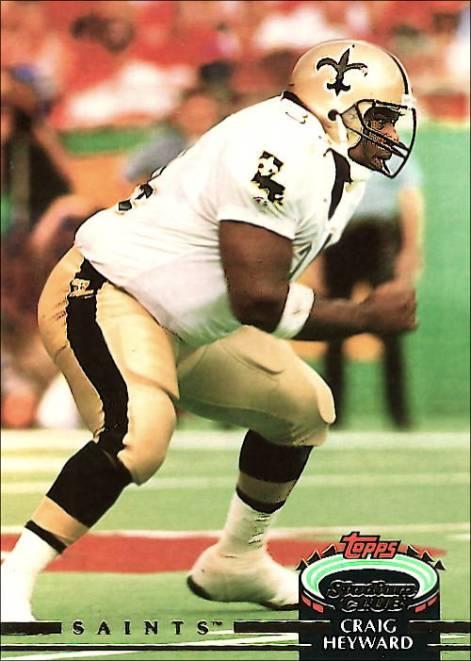 Craig Heyward 1992 New Orleans Saints Topps Stadium Football Card