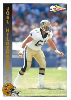 Joel Hilgenberg 1992 New Orleans Saints Pacific Football Card