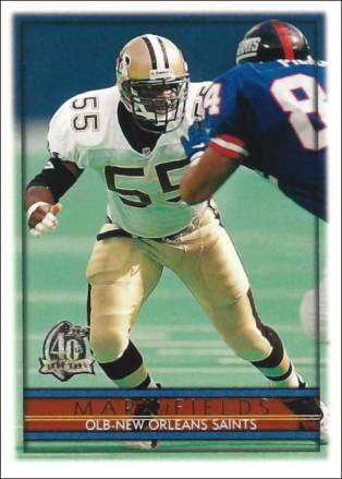 Mark Fields 1996 New Orleans Saints Topps Football Card #336