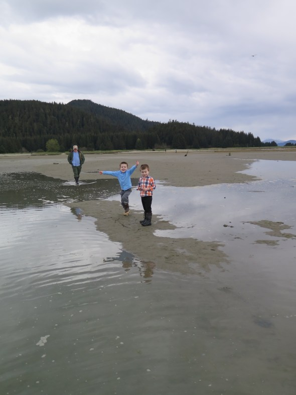 Watching the Tide come in in Juneau Alaska