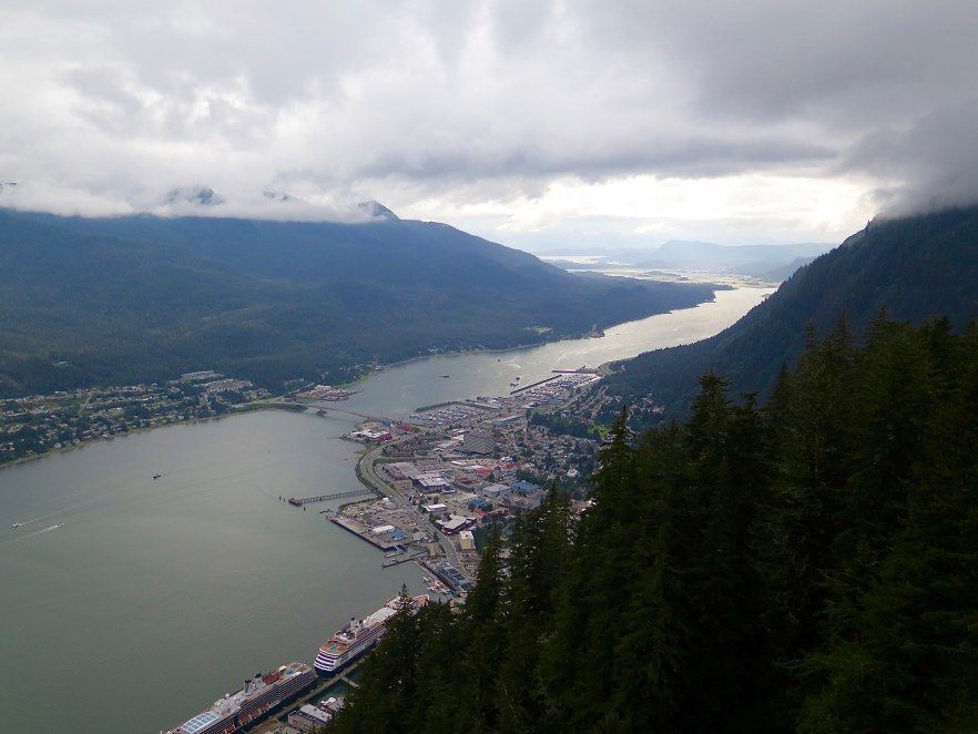A view of Juneau from the Tram.