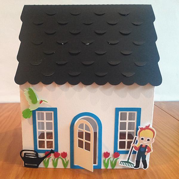 Maison fleurie 3D