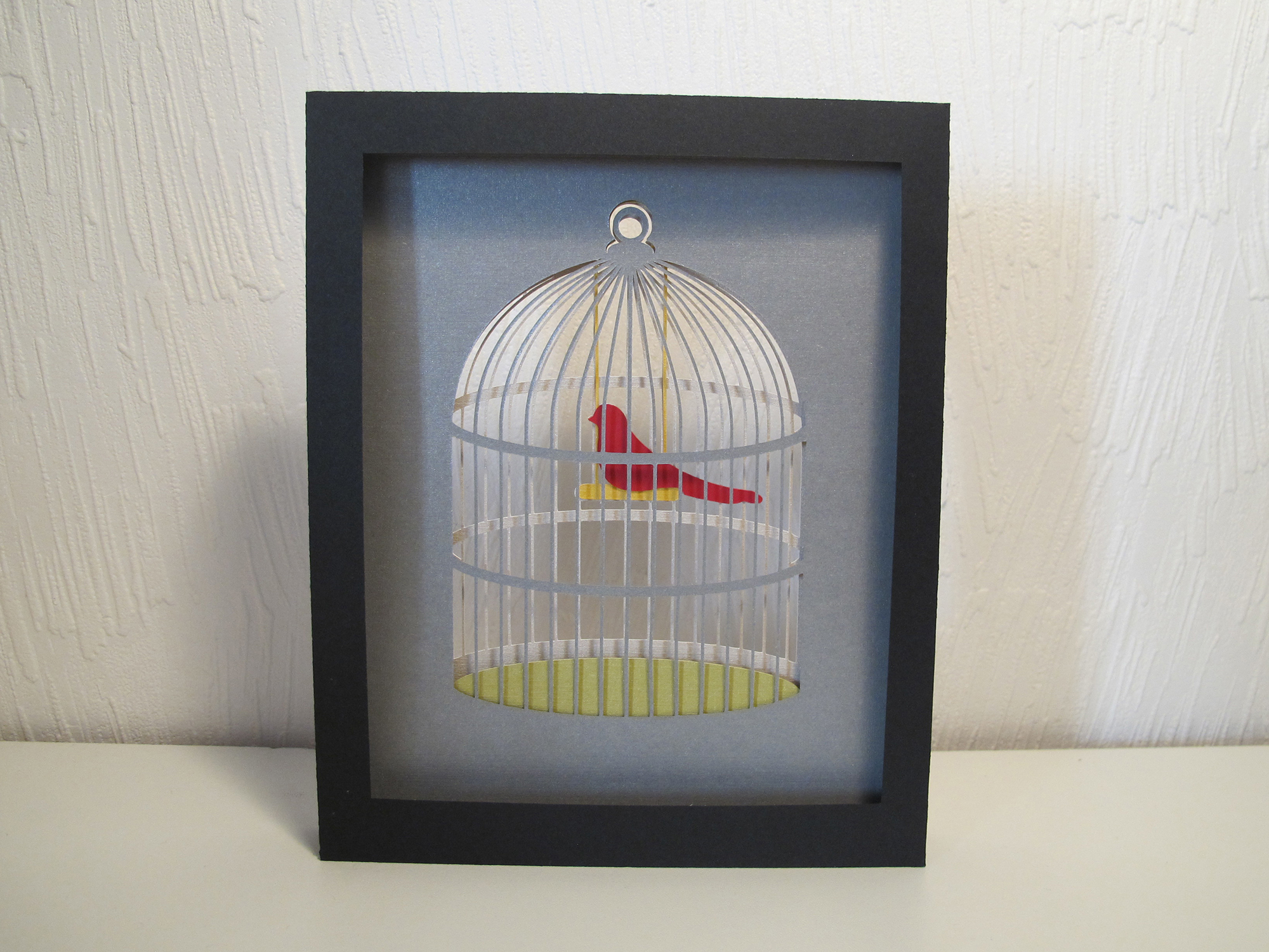 Shadow box ♦ L'oiseau en cage