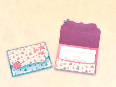 Une carte-cadeau et sa pochette