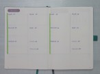 Bullet Journal - page hebdomadaire vierge