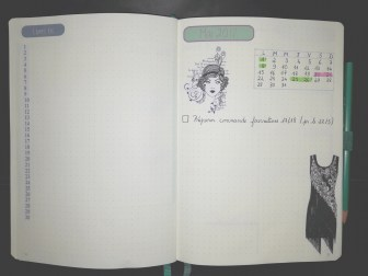 Bullet Journal - page mensuelle