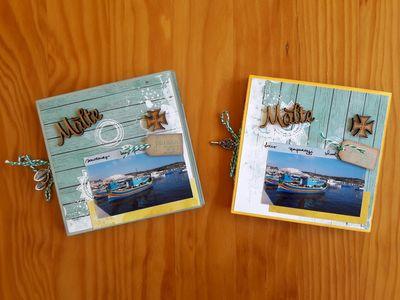 Un mi album avec pochette CD, à la manière de Manou Scrap