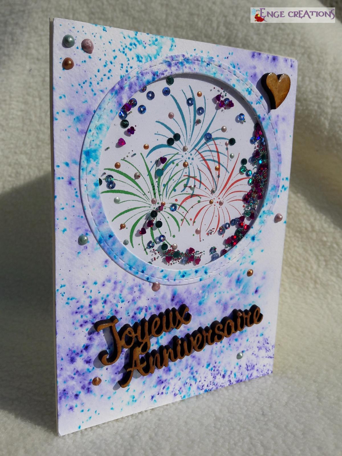 Shaker card - Feu d'artifice - version 2