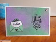 Carte courrier Distress Oxide et tampon Nos folles années