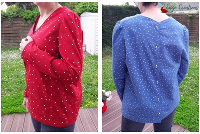 Blouse Idylle en deux versions