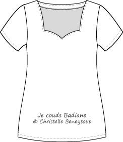 Teeshirt Badiane Christelle Beneytout