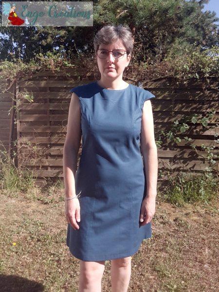 Robe Yselda bleu canard