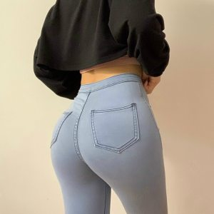 Slim Jeans For Women Skinny High Waist Woman Denim Pencil Pants Stretch Waist Slim Female Trousers Plus Size Spring Autumn 1