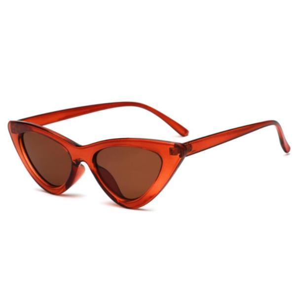 COOYOUNG Cute Sexy Retro Cat Eye Sunglasses Women Small Black White Triangle Vintage Cheap Ladies Sun Glasses Red Female UV400 6