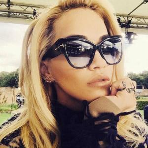 FSQCE New Fashion Brand Designer Cat Eye Women Sunglasses Female Gradient Points Sun Glasses Big Oculos feminino de sol UV400 1