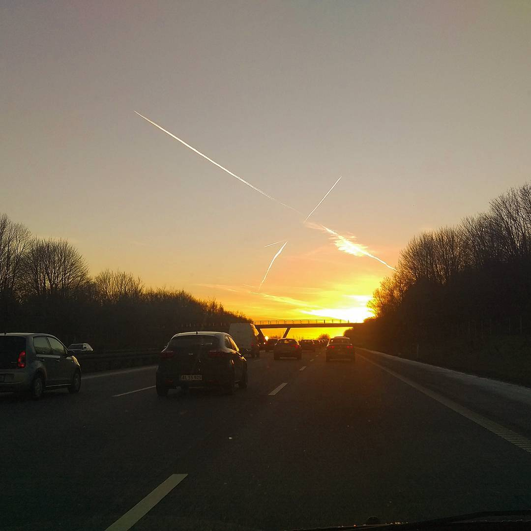 When going to heaven X marks the spot contrails clearskyhellip