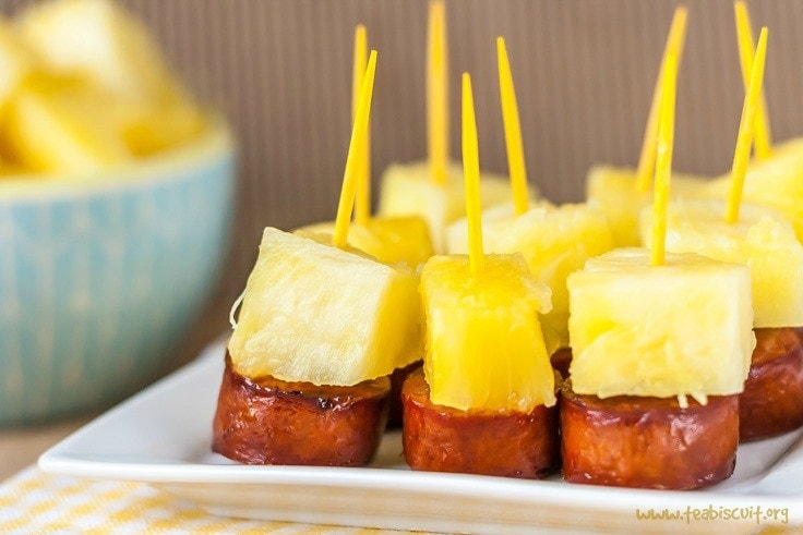Quick Sausage And Pineapple Appetizer Bites