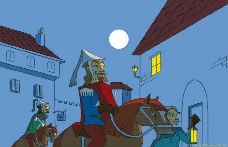 ilustracion para libro Leyendas de Becquer - editorial castalia 2010