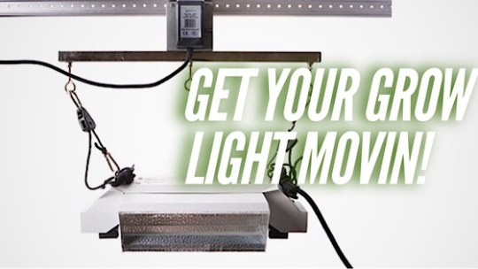 A Grow Light Mover Rail Will Solve Your Lighting Issues