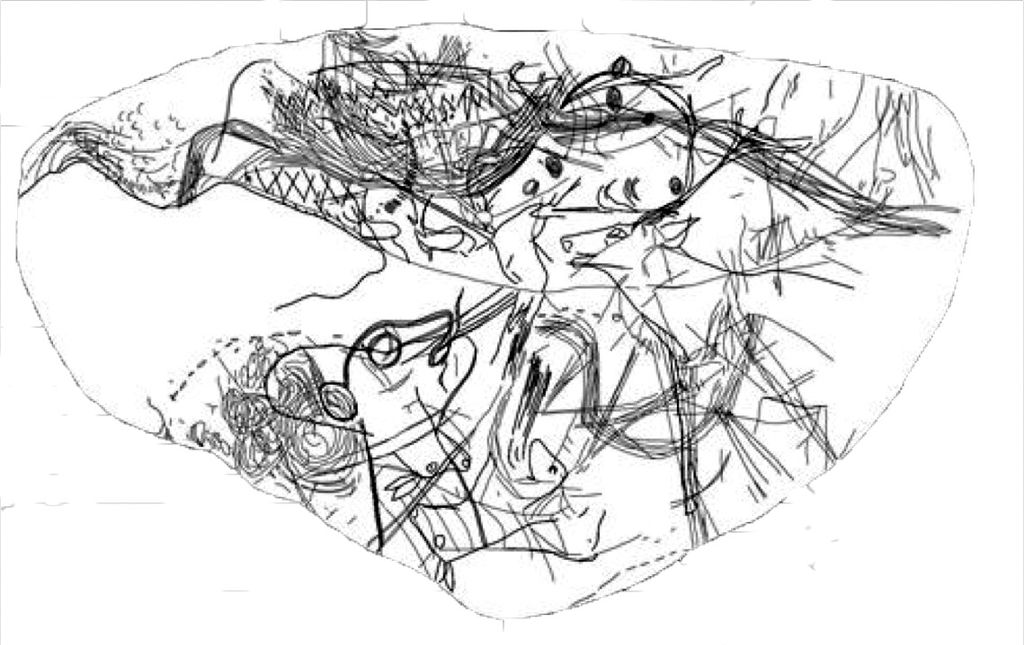 Mapa de Abauntz, esquema