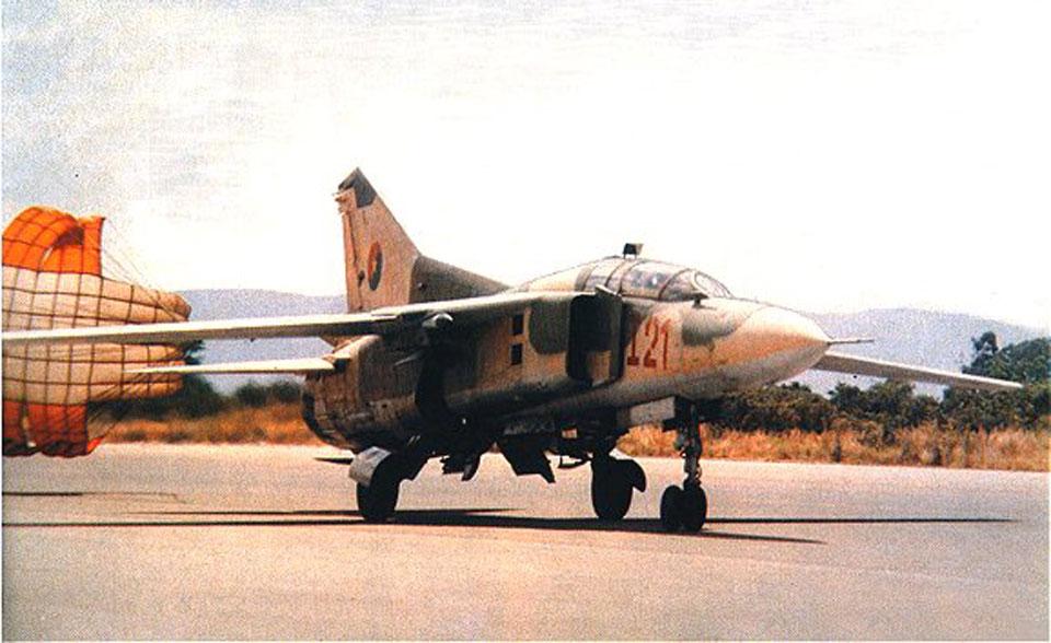 Os MiG-23 cubanos realizaram mais de mil missões da Guerra de Ogaden ao lado da Etiópia