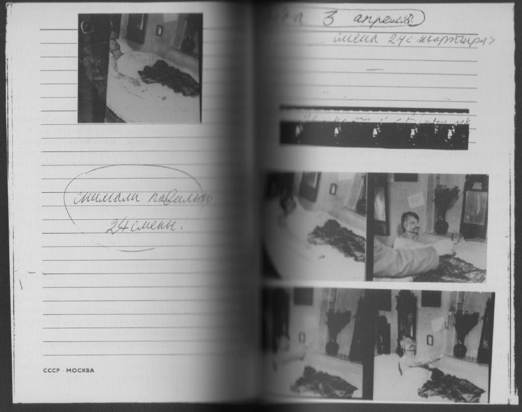 From the Working Diary The director, himself an actor.