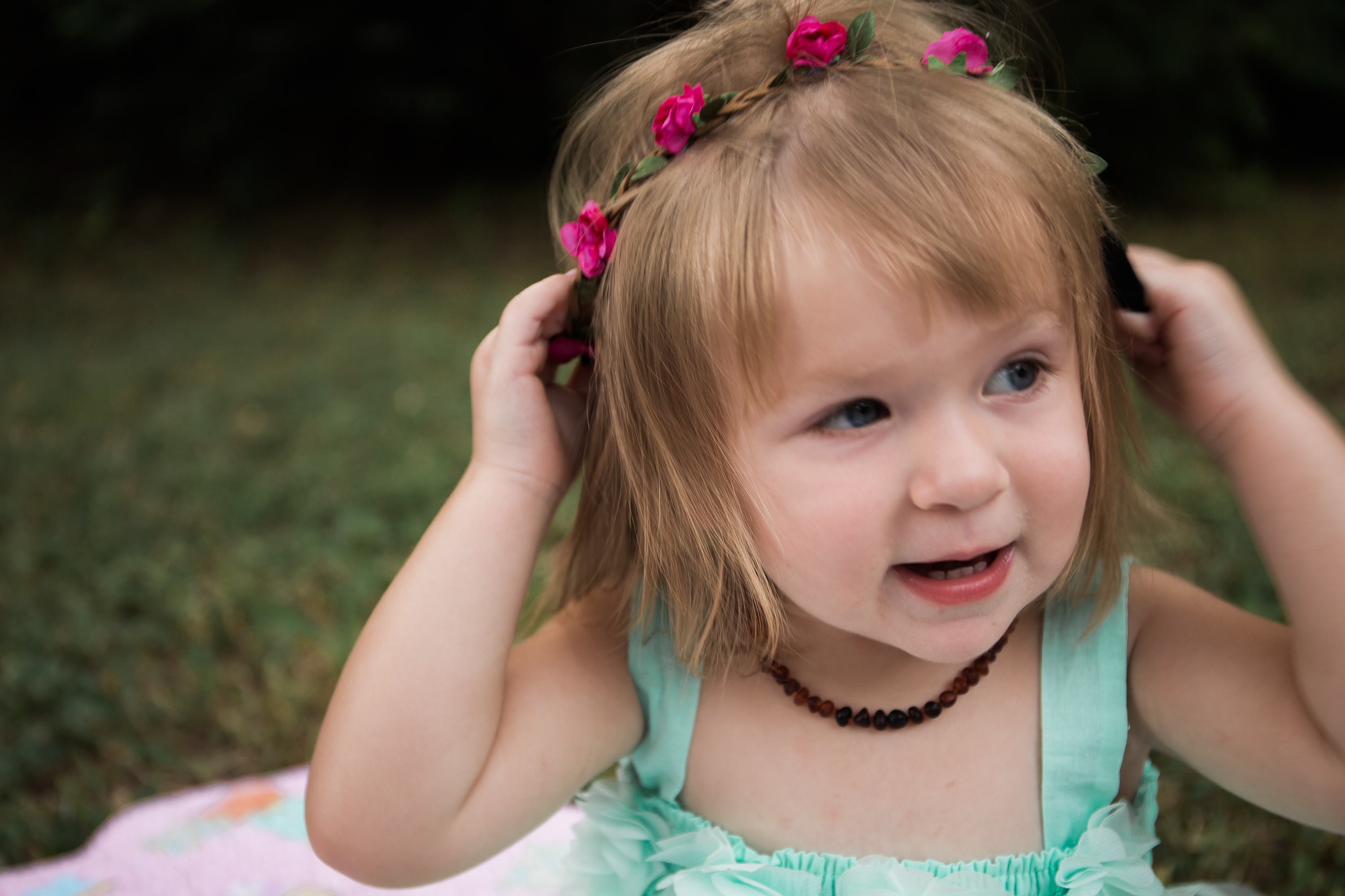 Toddler Floral Crown Photo Session
