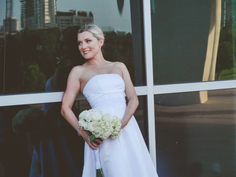 Bridal Portrait at the Long Center - Austin Texas Wedding Photographers