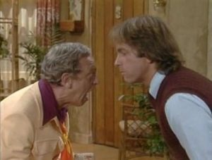 Three's Company Episode: Jack the Ripper (Mr. Furley and Jack bark like dogs)